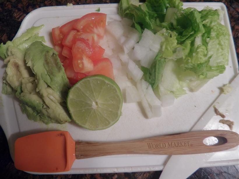 Taco veggies
