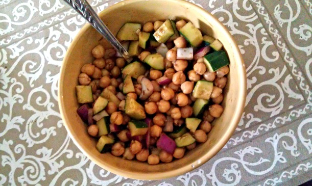 Chickpea and Cucumber Salad