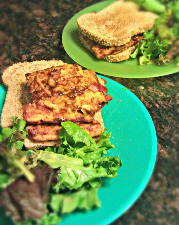 Vegan BBQ Tempeh Sandwich
