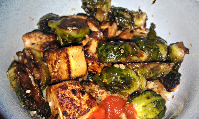 Brussels Sprouts and Tofu Bowl