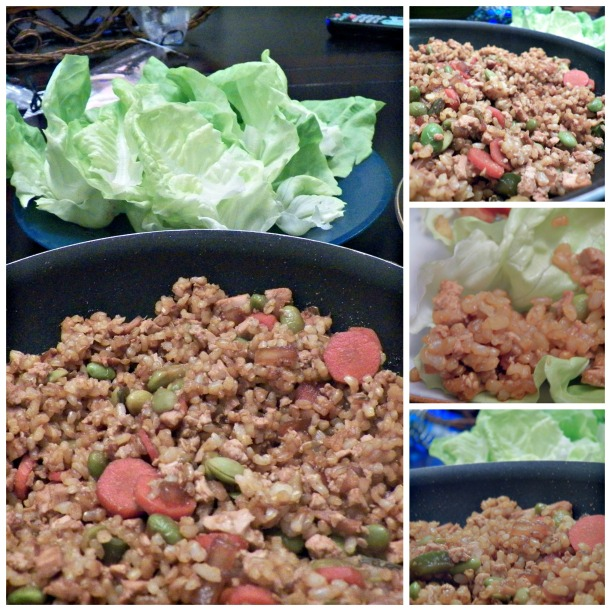 Lettuce Wraps Collage